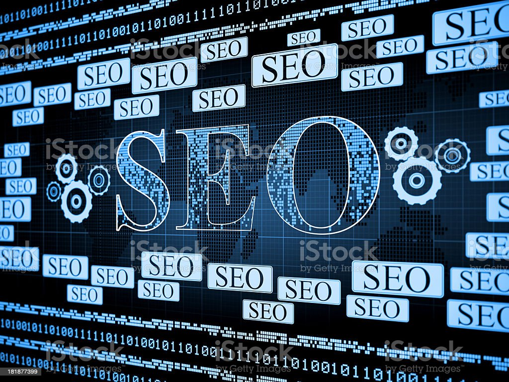 SEO searh engine optimization royalty-free stock photo