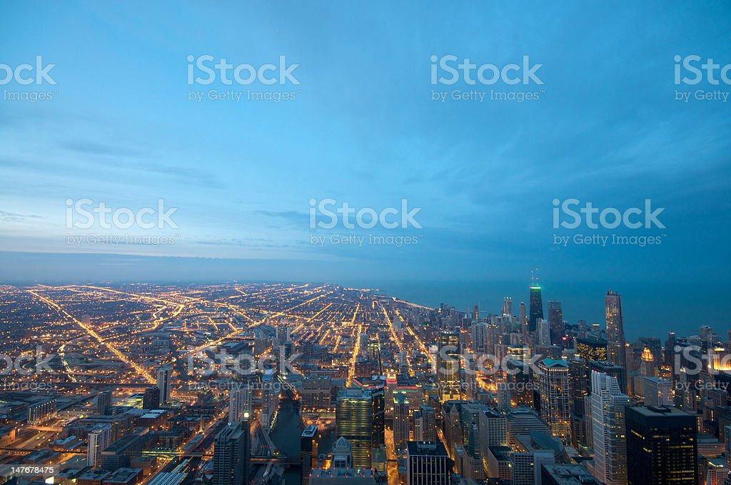 Sears Tower View Chicago stock photo