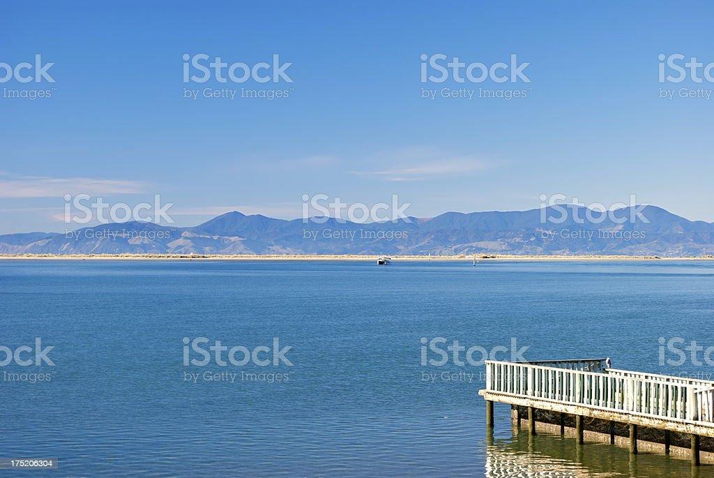 Seascape across the Tasman Bay, New Zealand royalty-free stock photo