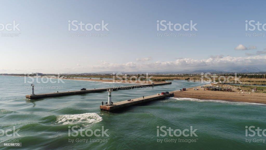 Seascape air shots stock photo