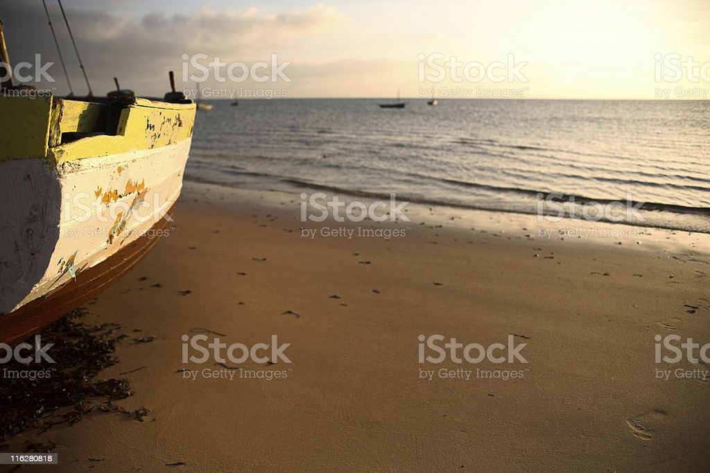 seascape and dhow stock photo