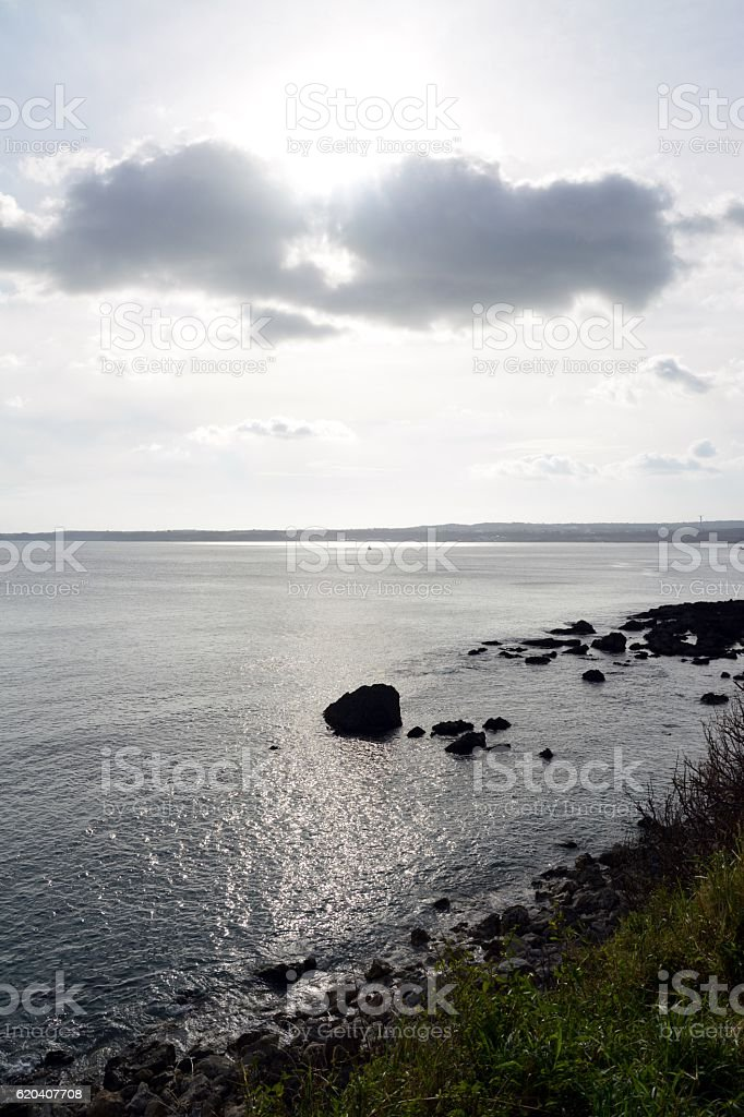 Seascape and Kenting coastline, Taiwan stock photo