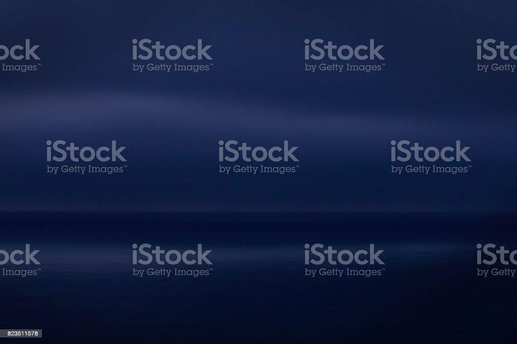 Seascape at night stock photo