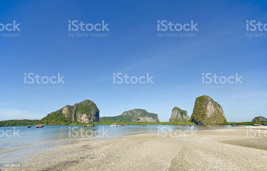 Seascape at Pak Meng Pier, Trang Province, Thailand royalty-free stock photo