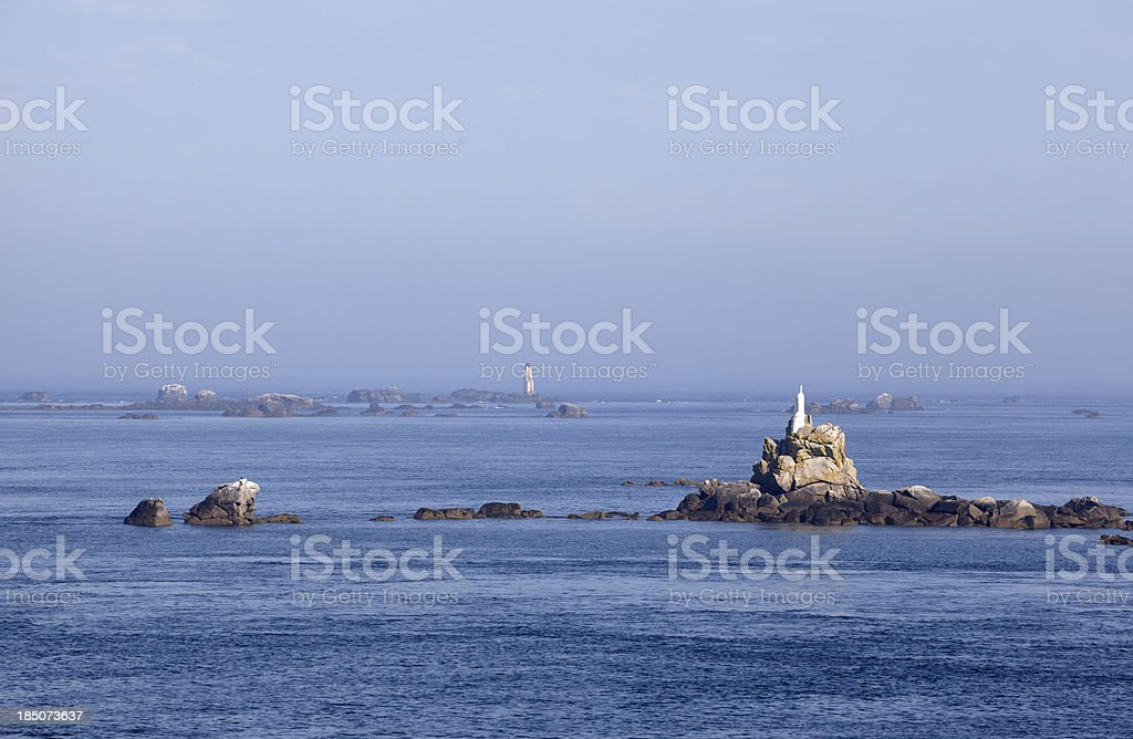 Seascape at Portsall, Finistere, Brittany, France stock photo