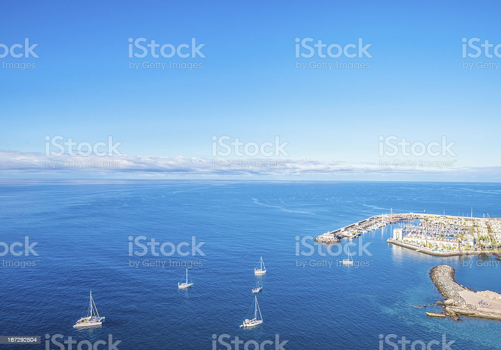 Seascape at Puerto de Mogan - Gran Canaria stock photo