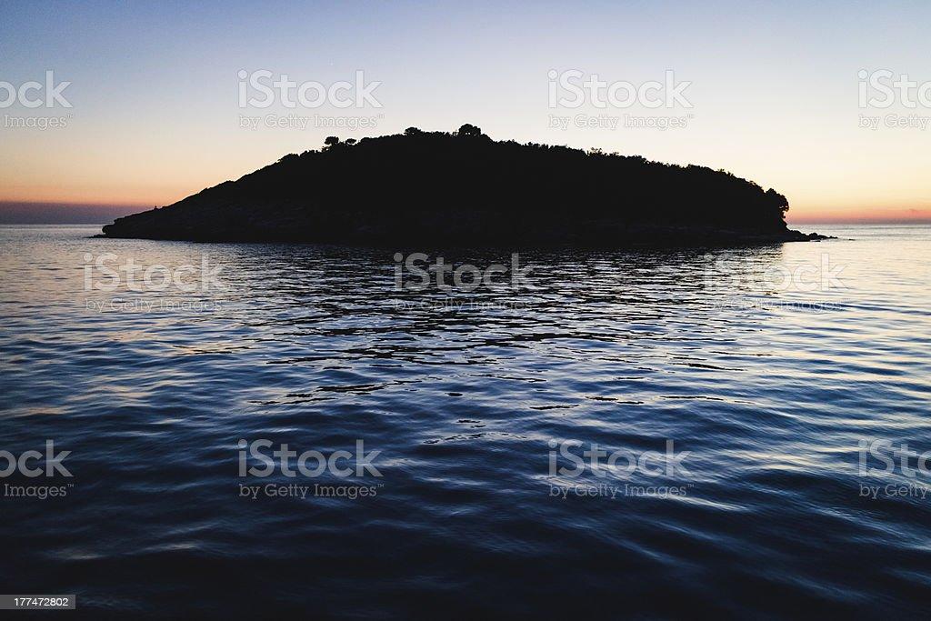 Seascape at sunset in Rovinj, Croatia. royalty-free stock photo