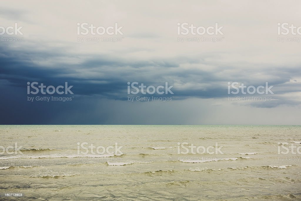Seascape before the Thunderstorm royalty-free stock photo
