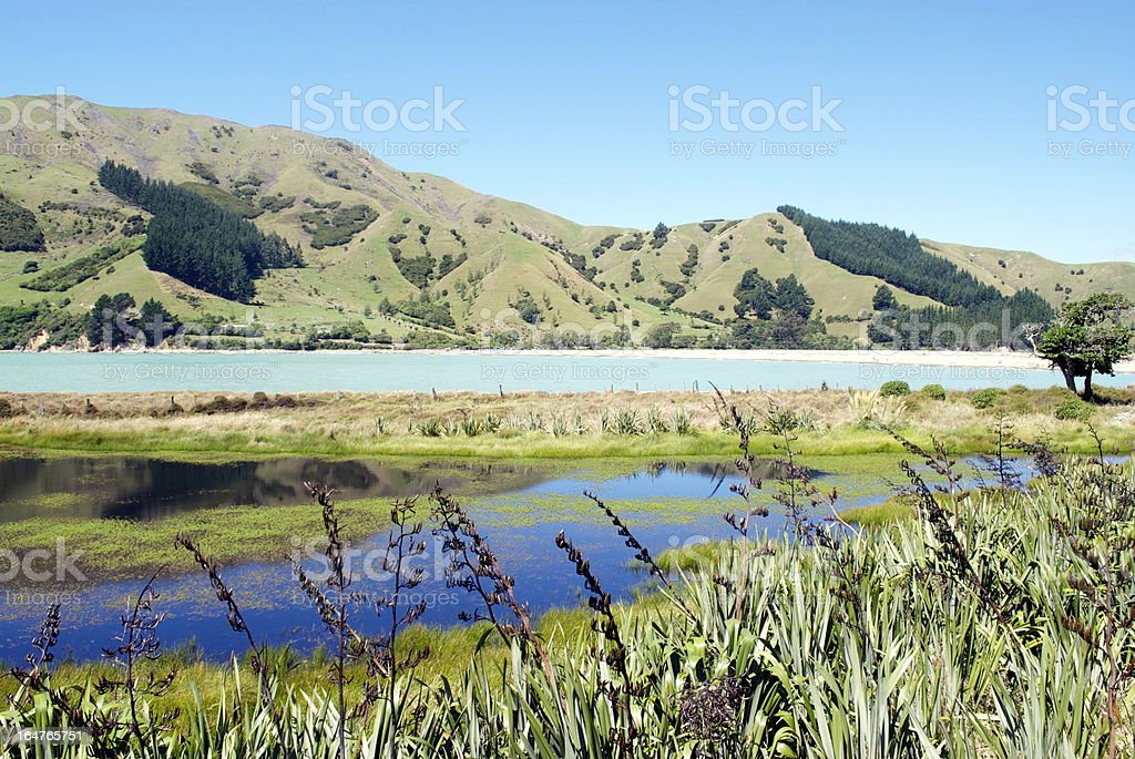 Seascape, Cable Bay, Nelson, New Zealand royalty-free stock photo