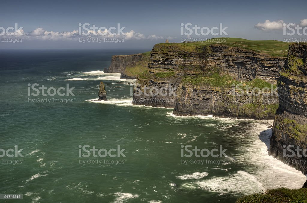 seascape cliffs of moher, county clare, ireland royalty-free stock photo