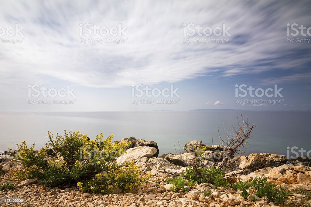 Seascape Croatia royalty-free stock photo