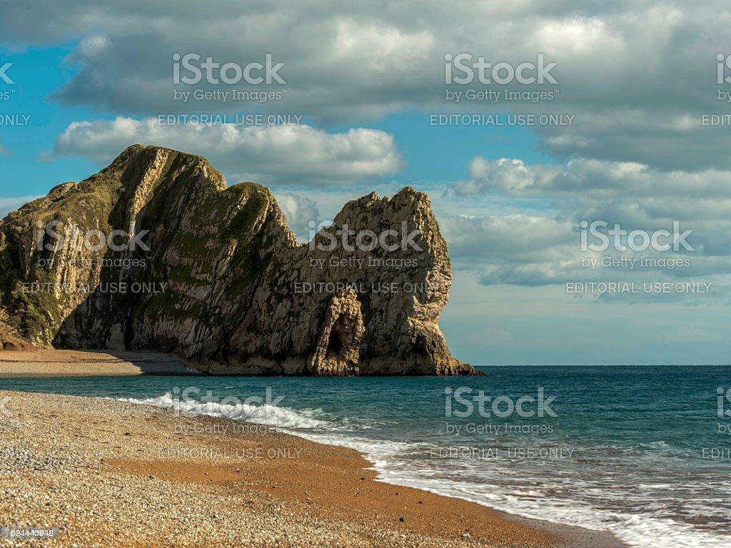 Seascape depicting Durdle Door headland stock photo