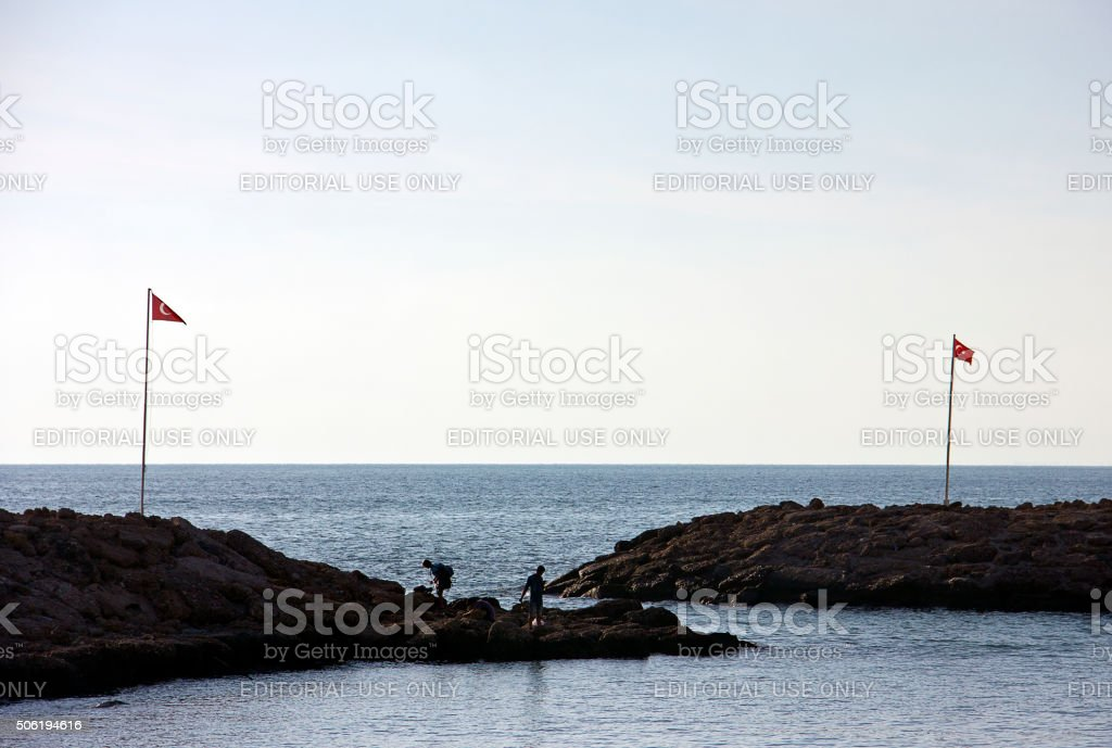 Seascape from Antalya Side stock photo