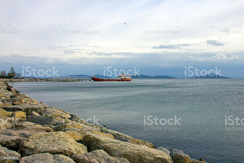 Seascape from Istanbul stock photo