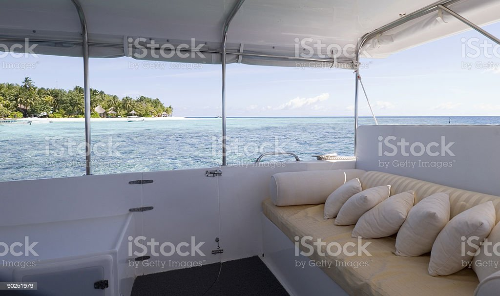 Seascape from the houseboat royalty-free stock photo