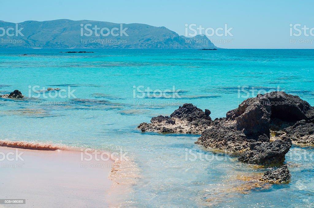 Seascape - Greece, Crete, Elafonissos stock photo