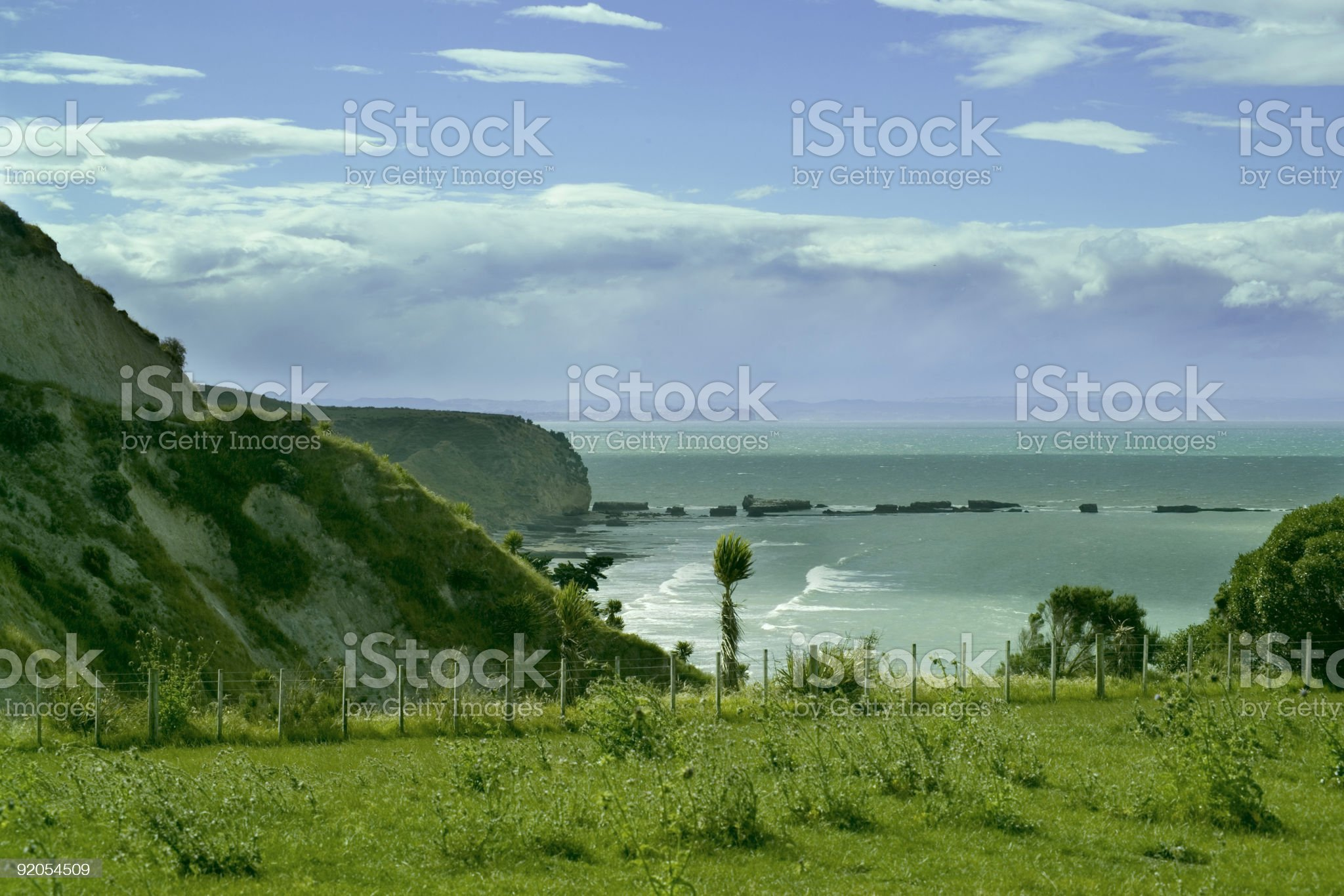 seascape green slope royalty-free stock photo
