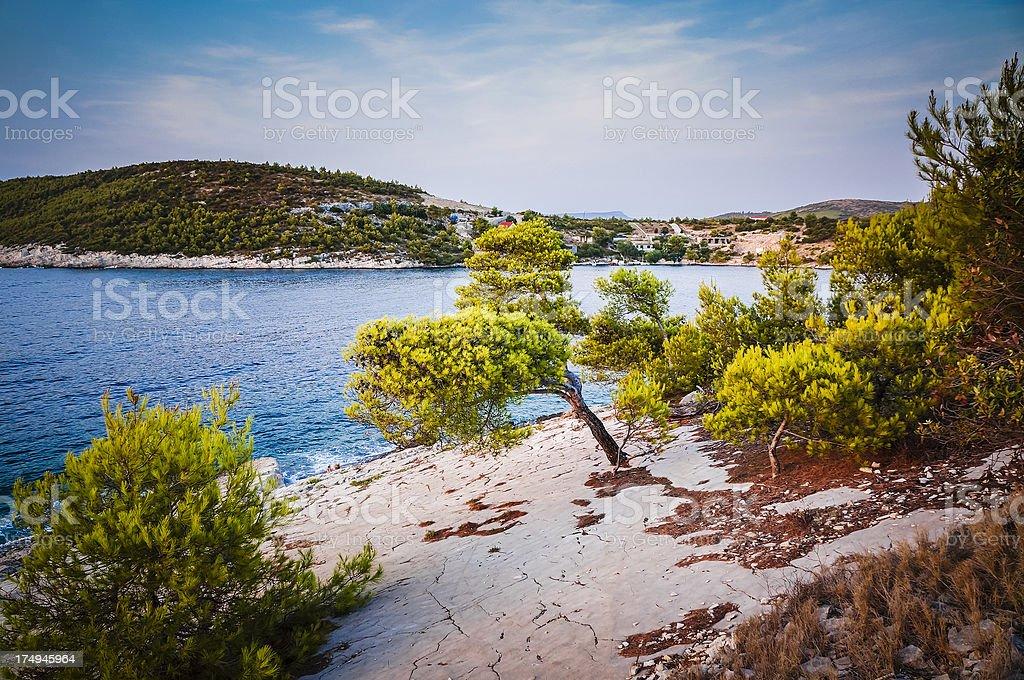 Seascape, Hvar Island, Croatia royalty-free stock photo