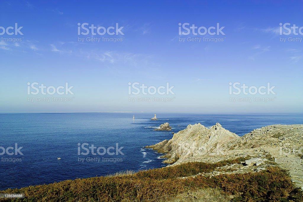 seascape in brittany la pointe du raz stock photo
