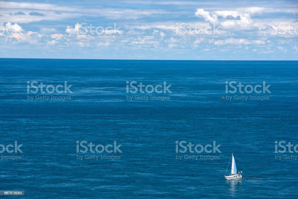 seascape in Cornwall, south west England stock photo