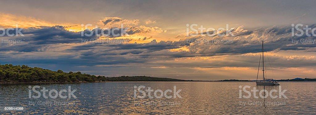Seascape in Dalmatia stock photo