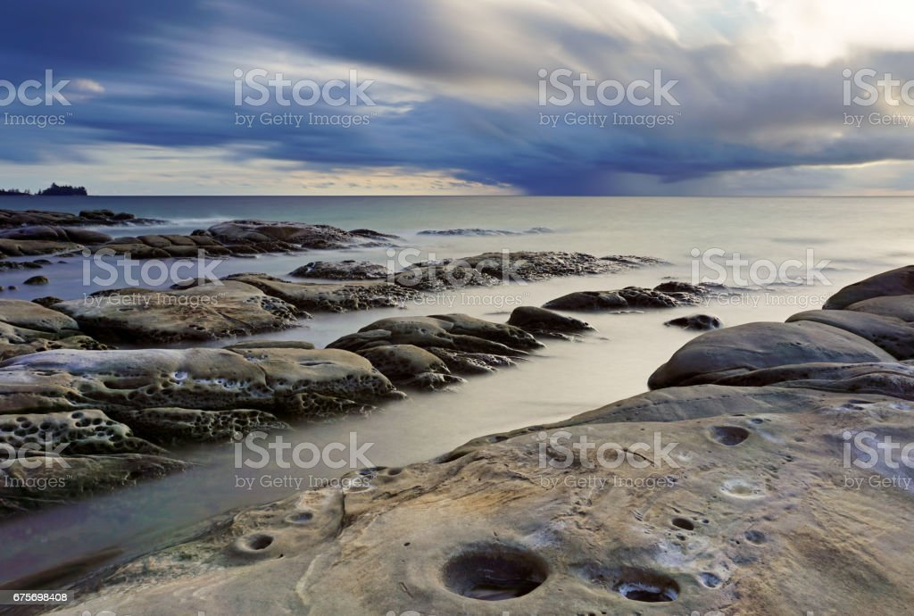 Seascape in Long Exposure stock photo