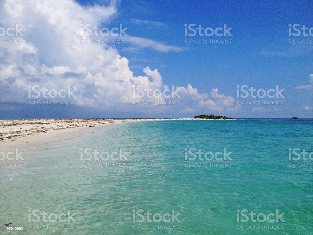 Seascape in Malaysia stock photo