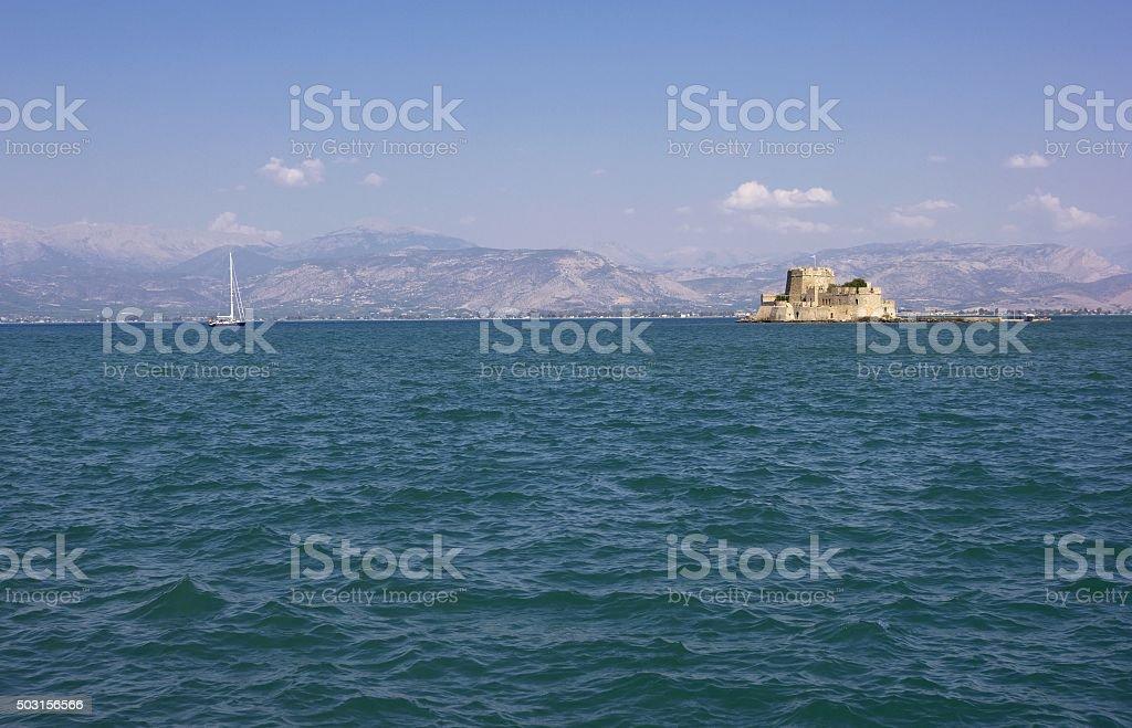 Seascape in Nafplio, Peloponnese, Greece stock photo