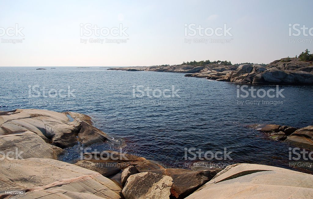 A seascape in Norway during the day royalty-free stock photo