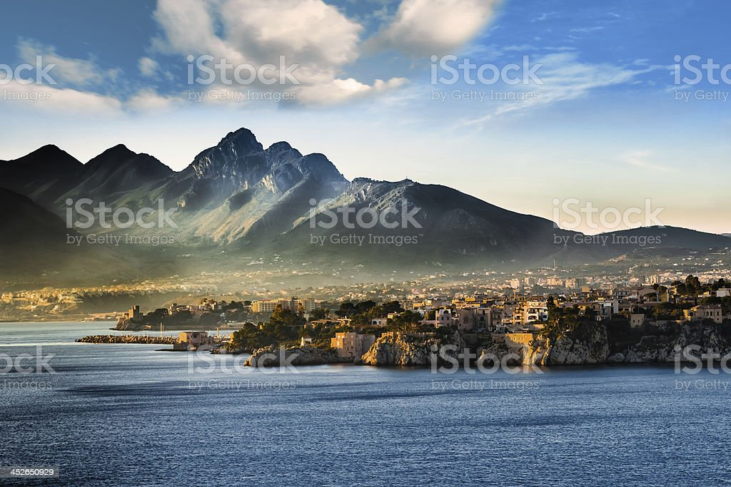 Seascape in Sicily (Italy) stock photo