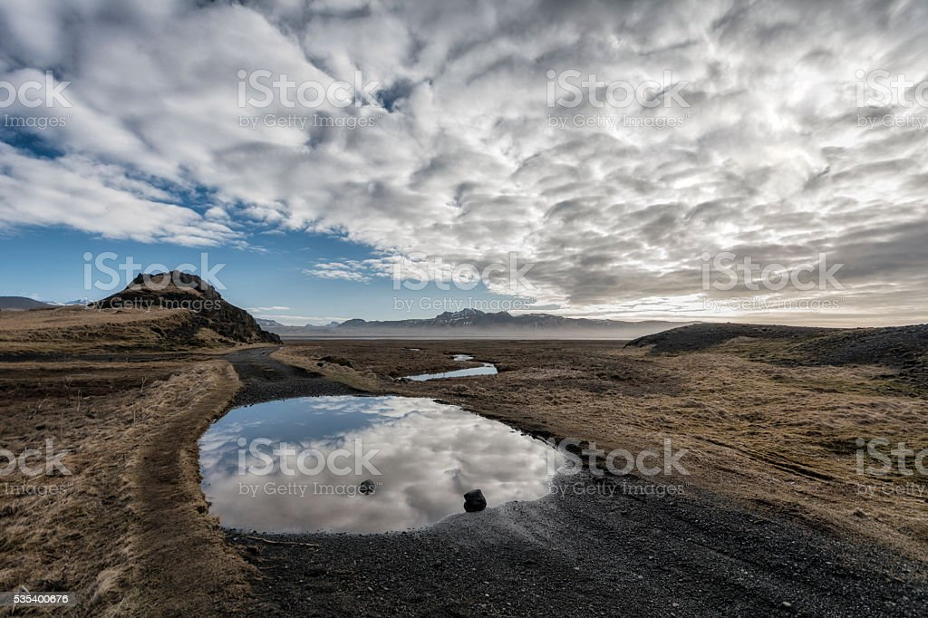 Seascape in southern Iceland stock photo