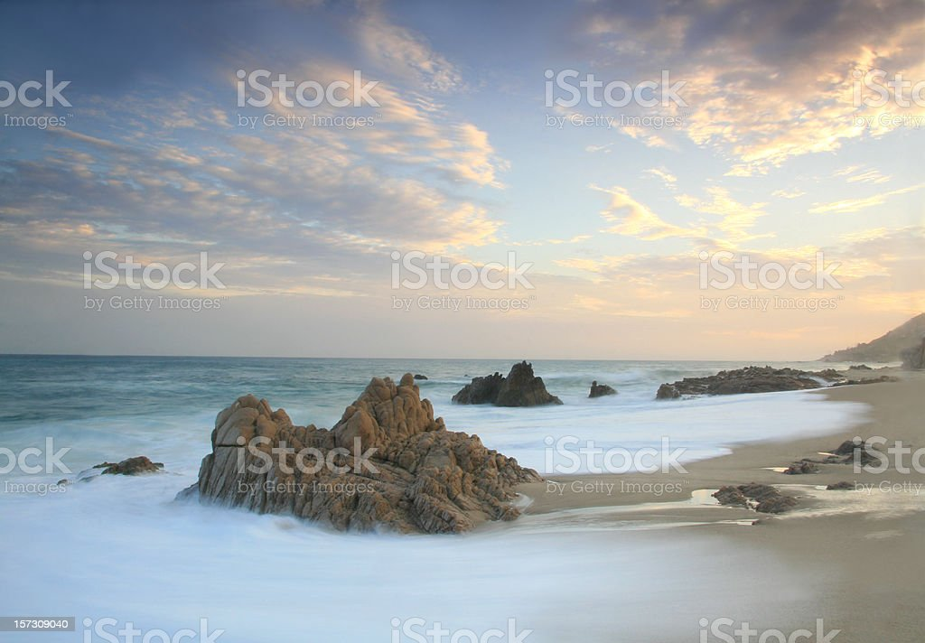 Seascape in the Tropics Long Exposure stock photo
