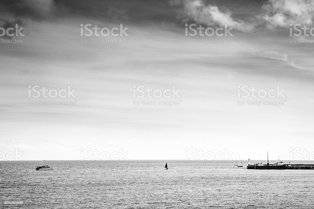 seascape landscape shot stock photo