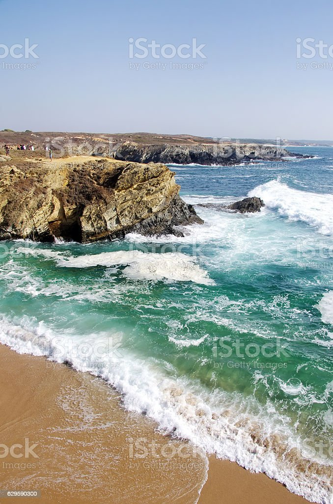 seascape near Porto Covo, Costa Vicentina, Portugal stock photo