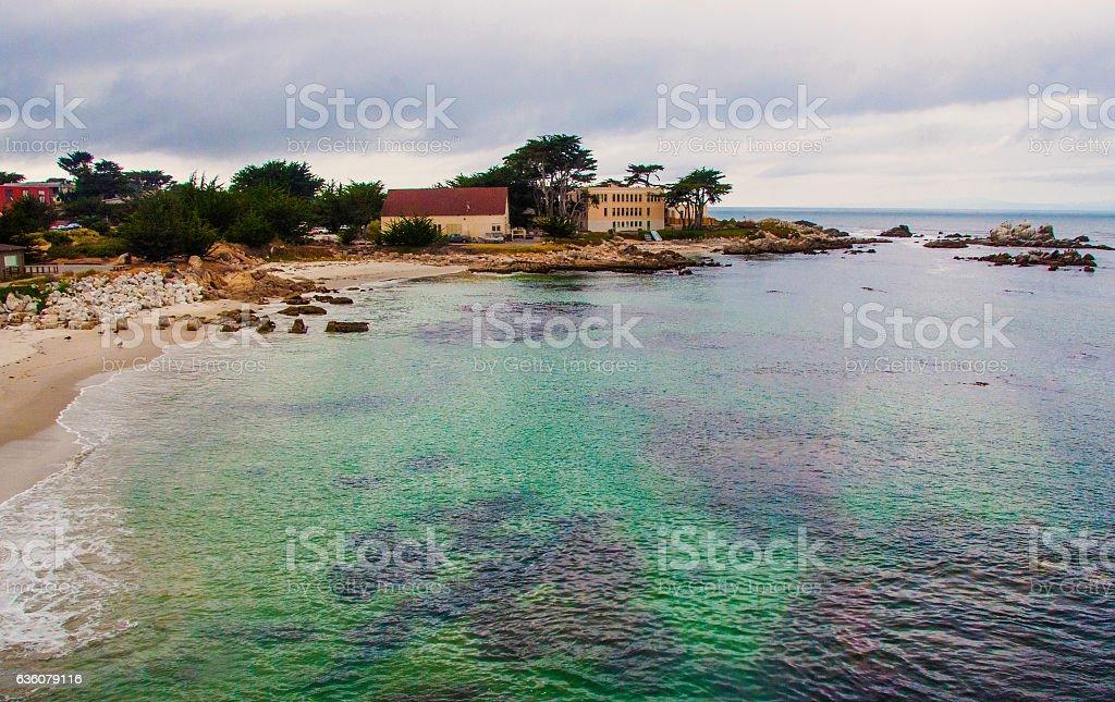 Seascape of Monterey Bay in California stock photo