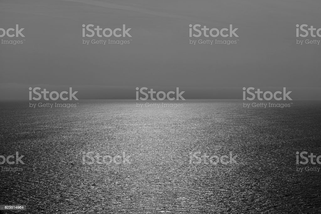 Seascape on dark grey tone stock photo