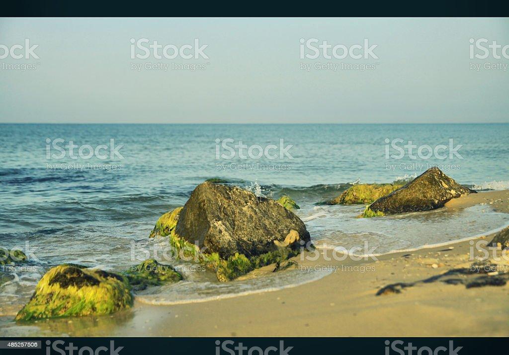 Seascape on the Black Sea. Summer landscape stock photo