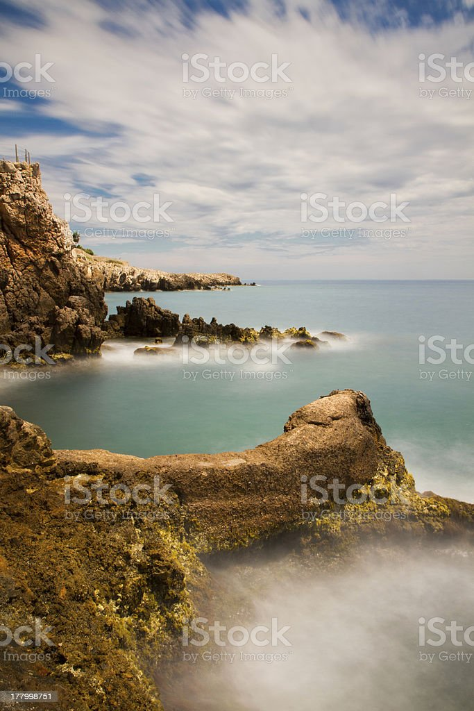 Seascape on the Riviera royalty-free stock photo