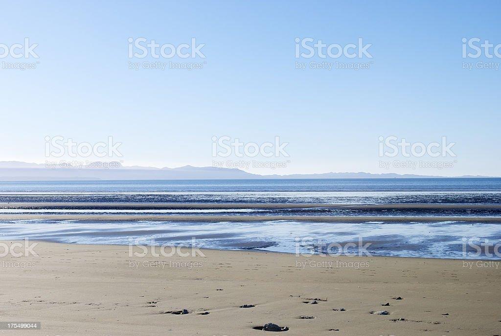 Seascape, Pohara Beach, Golden Bay, NZ stock photo
