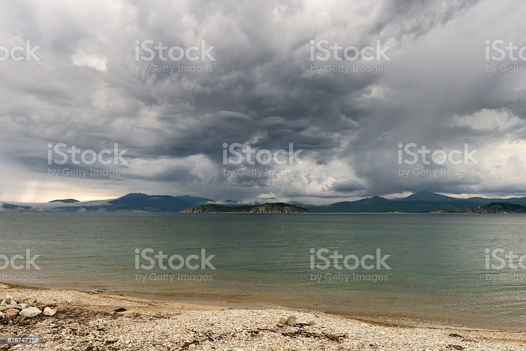 Seascape Russia Primorsky Krai. stock photo