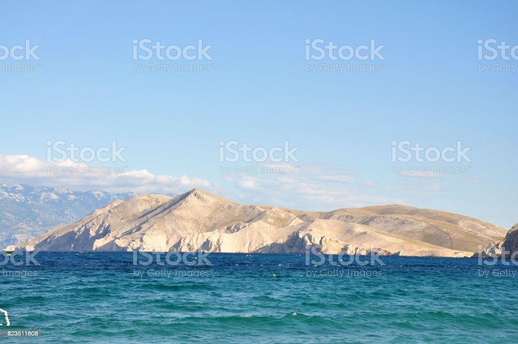 Seascape scene of croatian sea stock photo