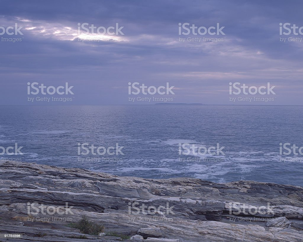 Seascape Sunrise stock photo
