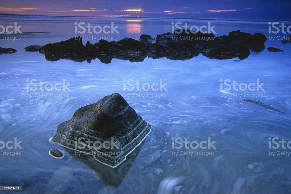 seascape sunset stock photo