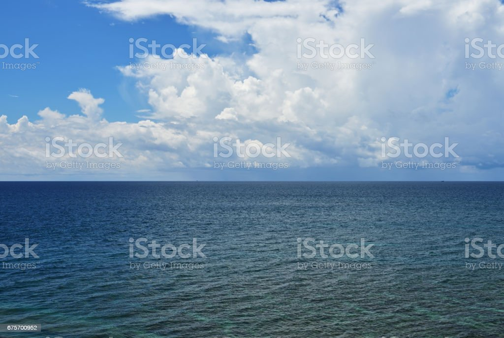 Seascape view in Tip of Borneo stock photo