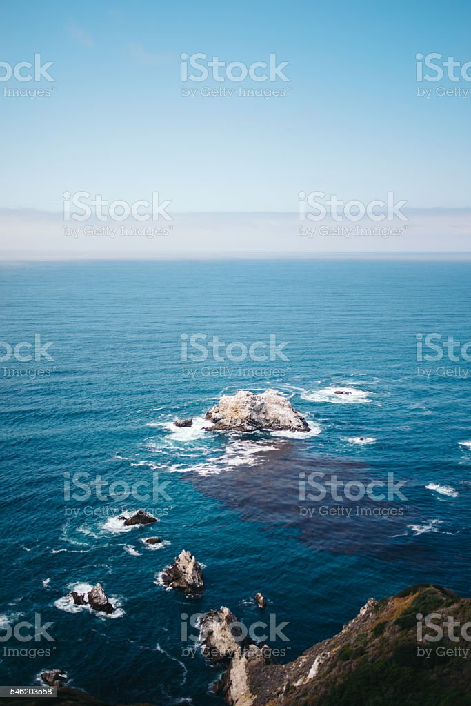 Seascape - West Coast, California stock photo