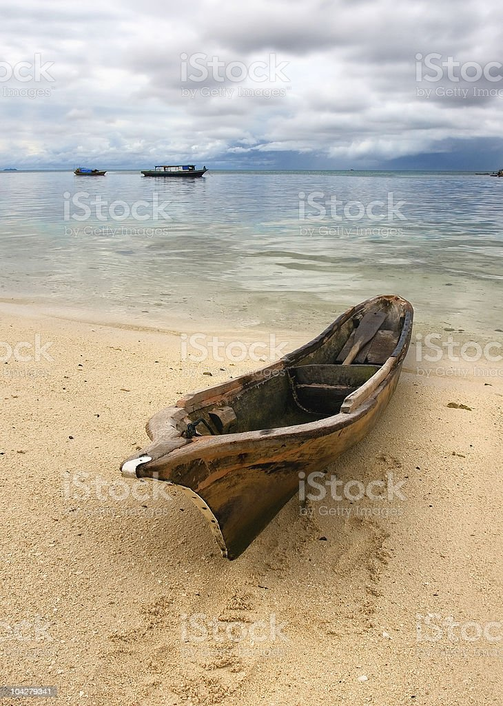 seascape with old boat royalty-free stock photo