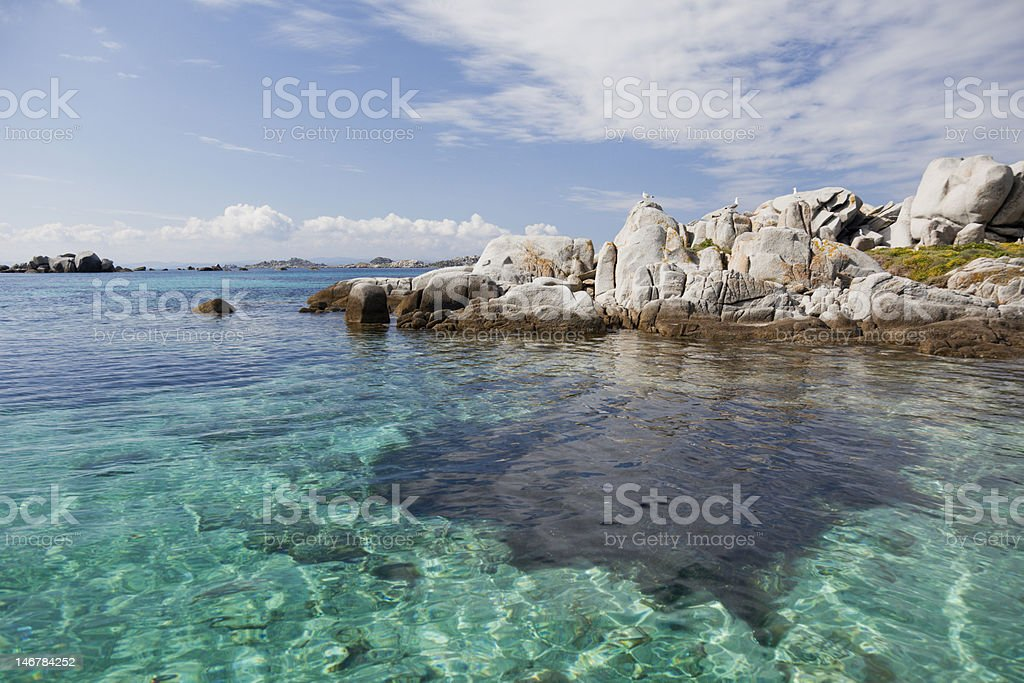 Seascape with rocks royalty-free stock photo