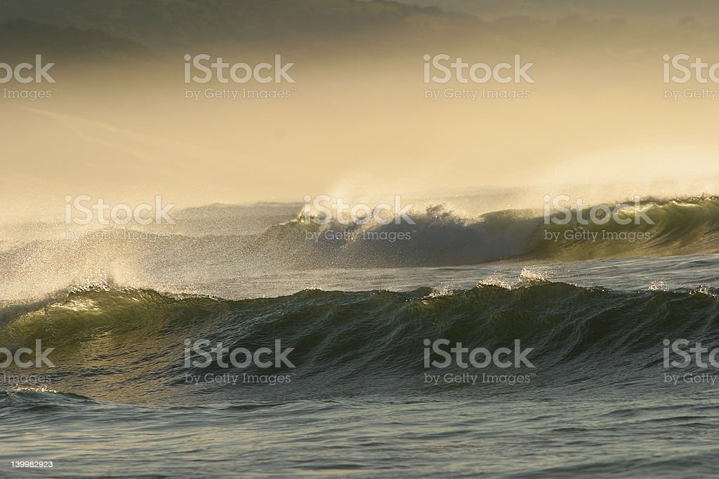Seascape with waves royalty-free stock photo