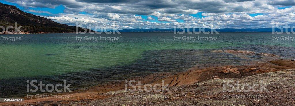 Seascapes Freycinet National Park Tasmania stock photo