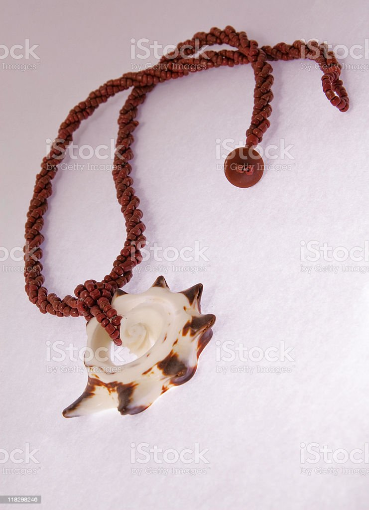 Seashell collar royalty-free stock photo